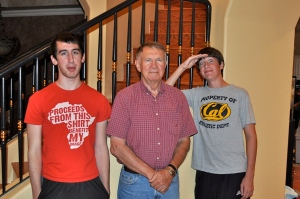 Dylan, Dad & Gus a few years ago