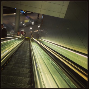 It's late, I'm tired and yeah, the escalator made me dizzy, too.