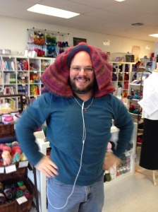 Our friend Patrick models the new-and-improved vest, errr, hat.  Whaddaya think?