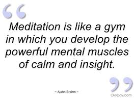 Meditation is like a gym