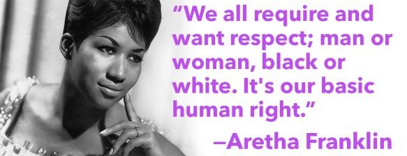 Aretha Respect quote